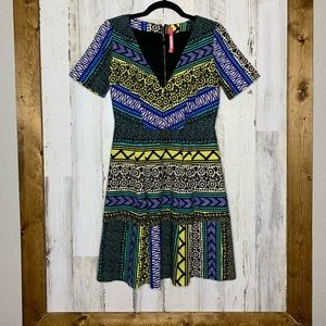 Plenty by Tracy Reese patterned dress fit n flare